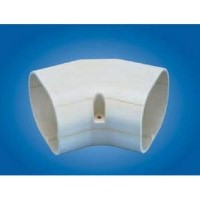 "Mitsubishi NM-60 Line Hide Line Set Cover System 45 Degree Horizontal Elbow - 2-9/16"" x 2-9/16"""