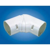 "Mitsubishi NX-100 Line Hide Lineset Cover System Universal 45-90 Degree Adjustable Horizontal Elbow - 4-3/16"" x 2-15/16"""