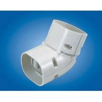 "Mitsubishi NZ-75 Line Hide Lineset Cover System Universal 45-90 Degree Adjustable Vertical Elbow - 3-3/8"" x 2-11/16"""