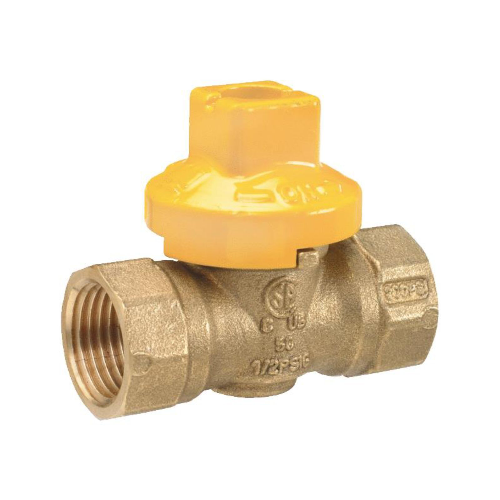 "ProLine Series 114-523 - Gas Cock Ball Valve, 1/2"" X 1/2"" Flare, 1 Piece Design"