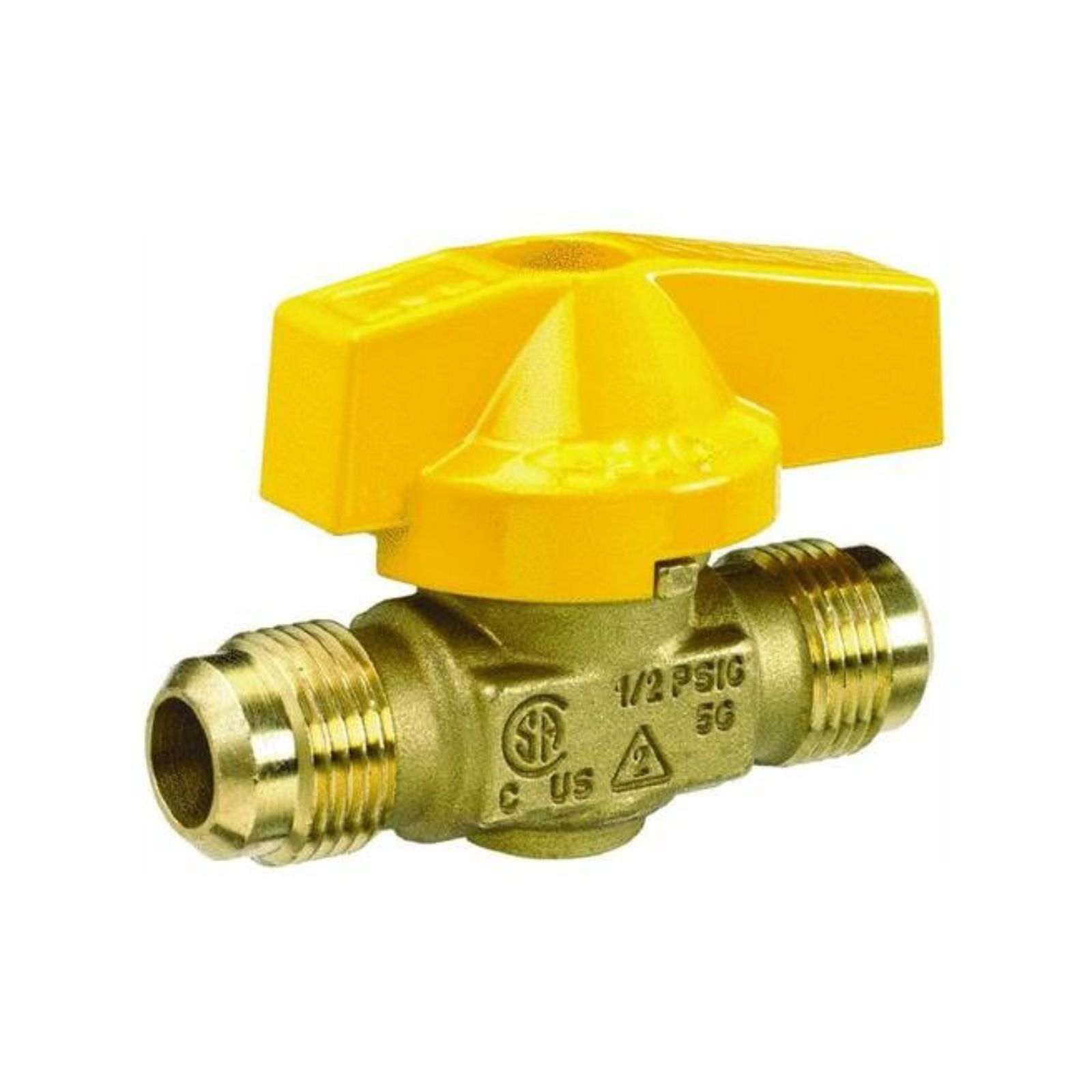 "ProLine Series 116-503 - Gas Cock Ball Valve 1/2"" Flare, 1 Piece Design"