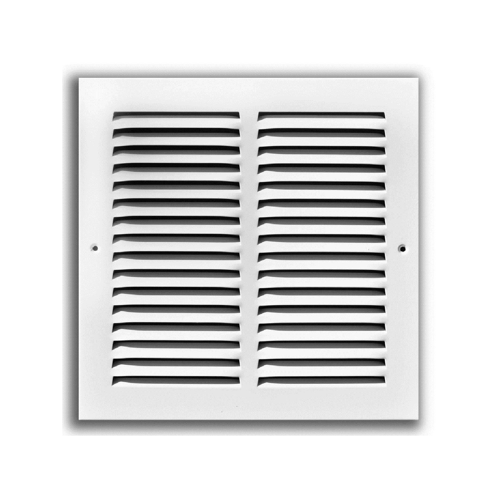 "TRUaire 170 14X30 - Steel Return Air Grille - 1/2"" Spaced Fin, White, 14"" X 30"""