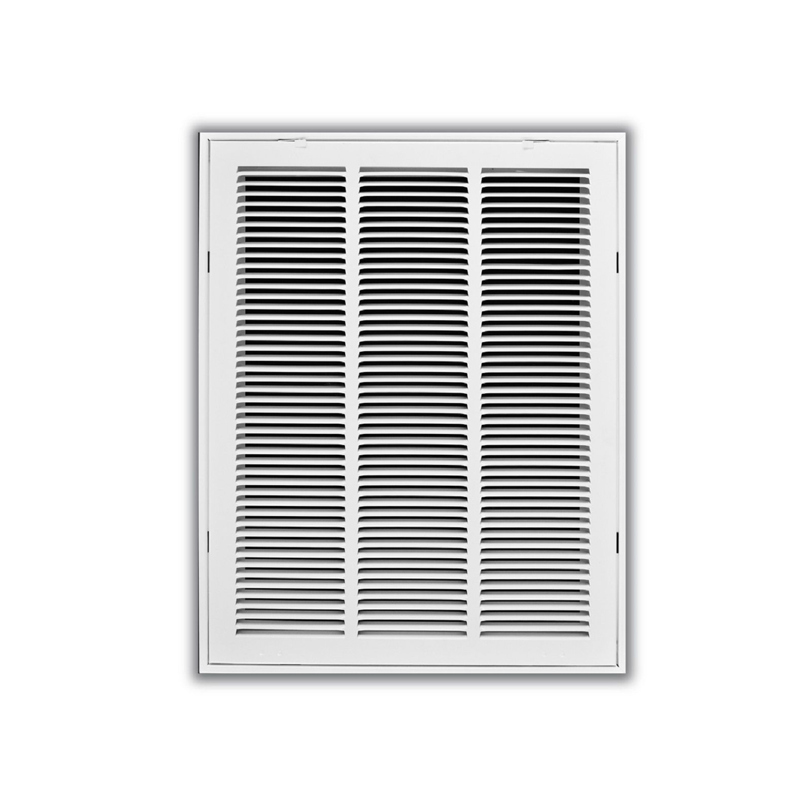 "TRUaire 190 18X18 - Steel Return Air Filter Grille With Fixed Hinged Face, White, 18"" X 18"""