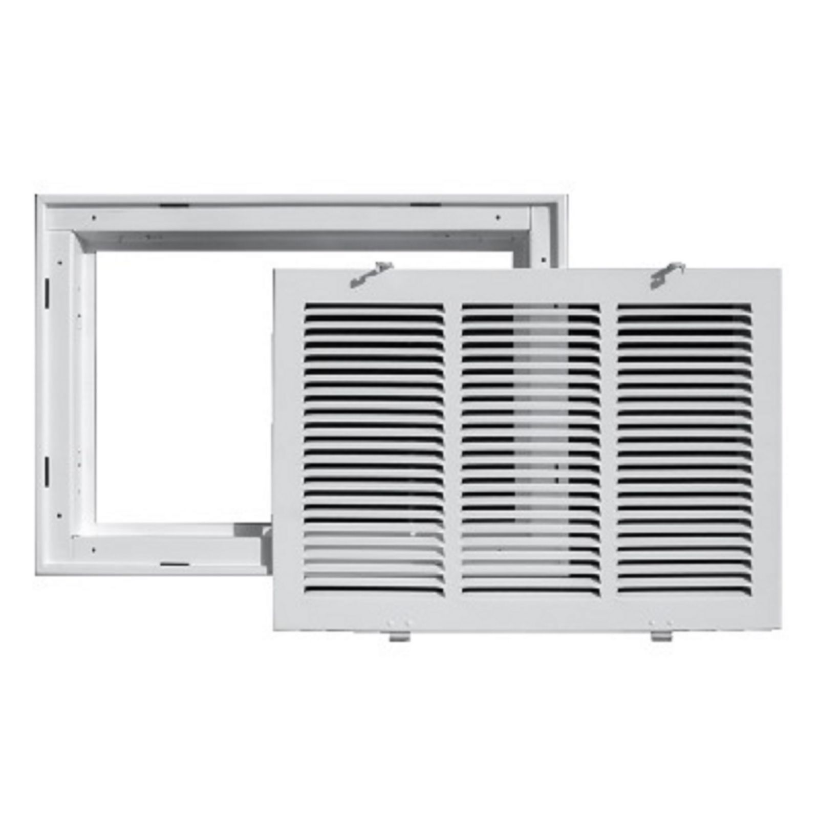 "TRUaire 190RF 18X18 - Steel Return Air Filter Grille With Removable Face, White, 18"" X 18"""
