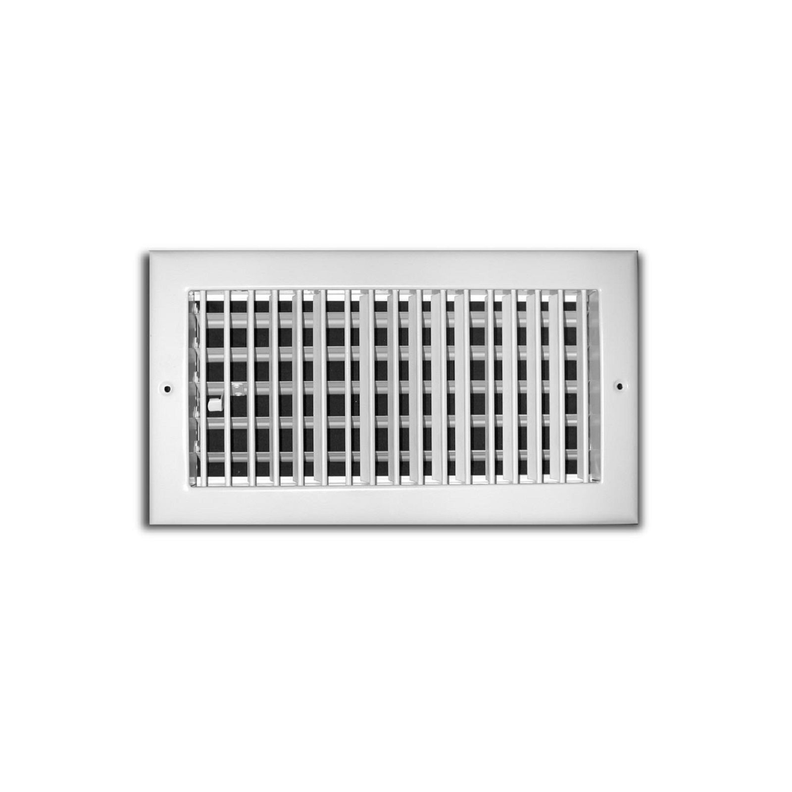 "TRUaire 210VM 24X06 - Steel Adjustable 1-Way Wall/Ceiling Register With Multi Shutter Damper, White, 24"" X 06"""