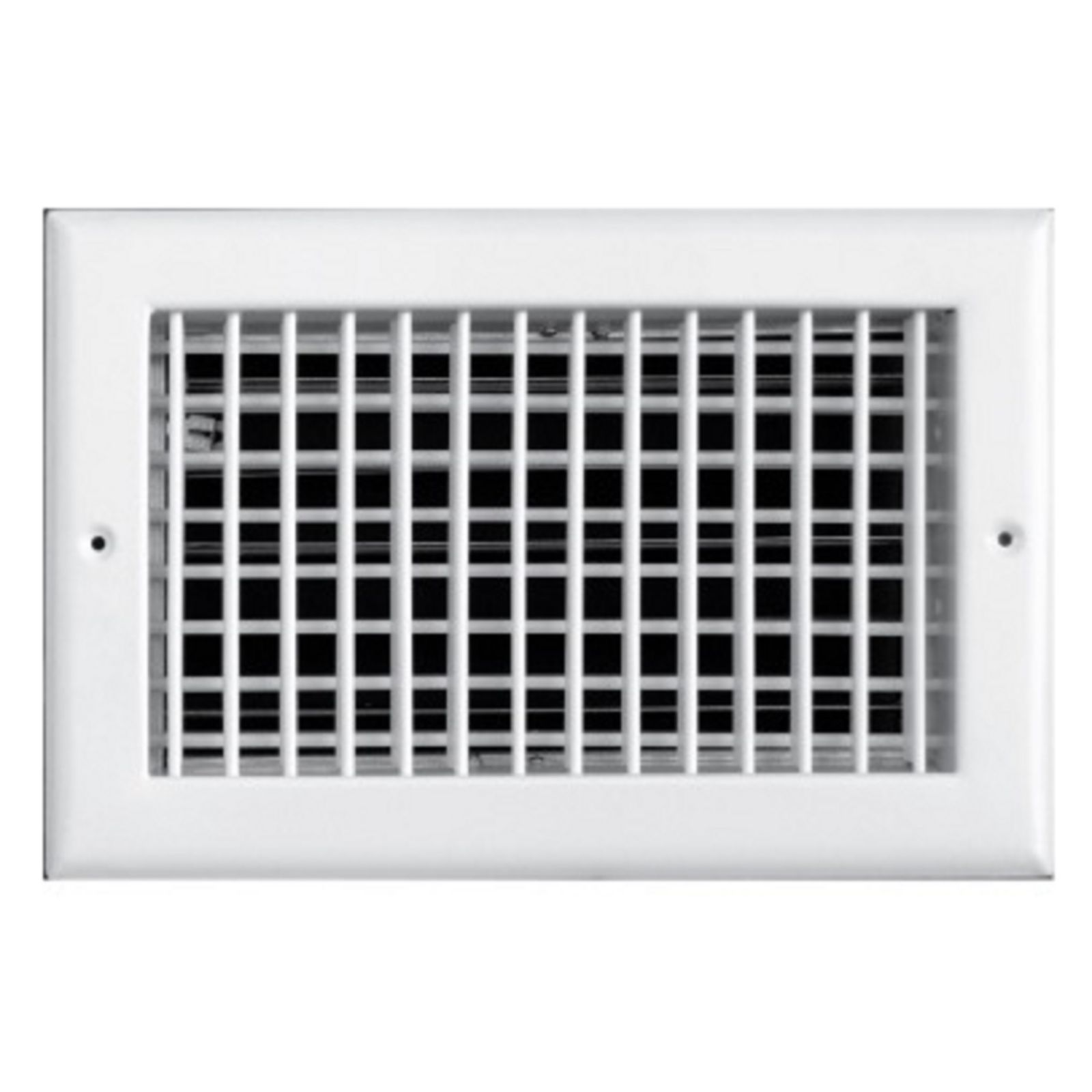 "TRUaire 220VO 08X04 - Steel Adjustable Double Deflection Wall/Ceiling Register With Opposed Blade Damper, White, 08"" X 04"""