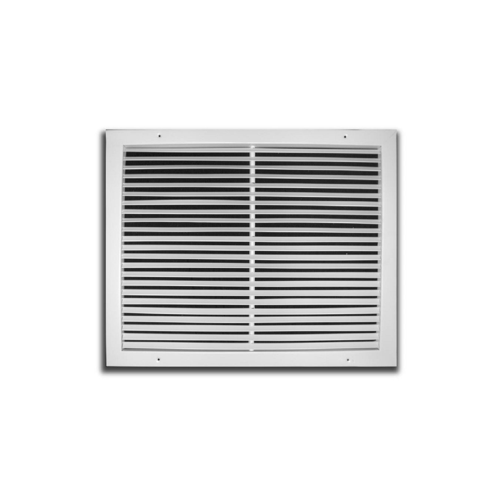 "TRUaire 270 24X12 - Steel Fixed Bar Return Air Grille, White, 24"" X 12"""