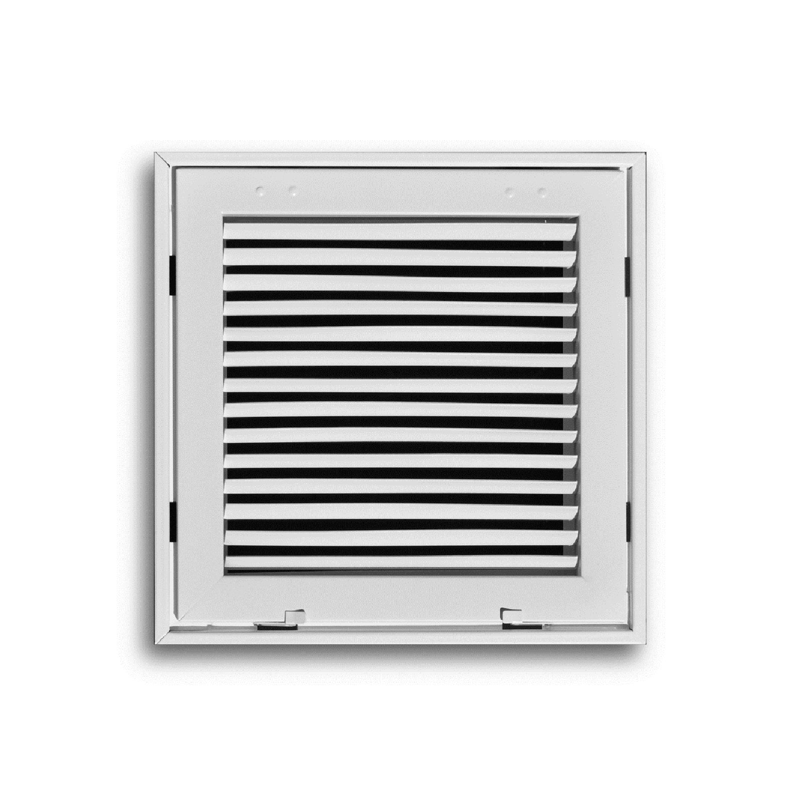 "TRUaire 290 10x10 - Steel Fixed Bar Return Air Filter Grille, White, 10"" x 10"""