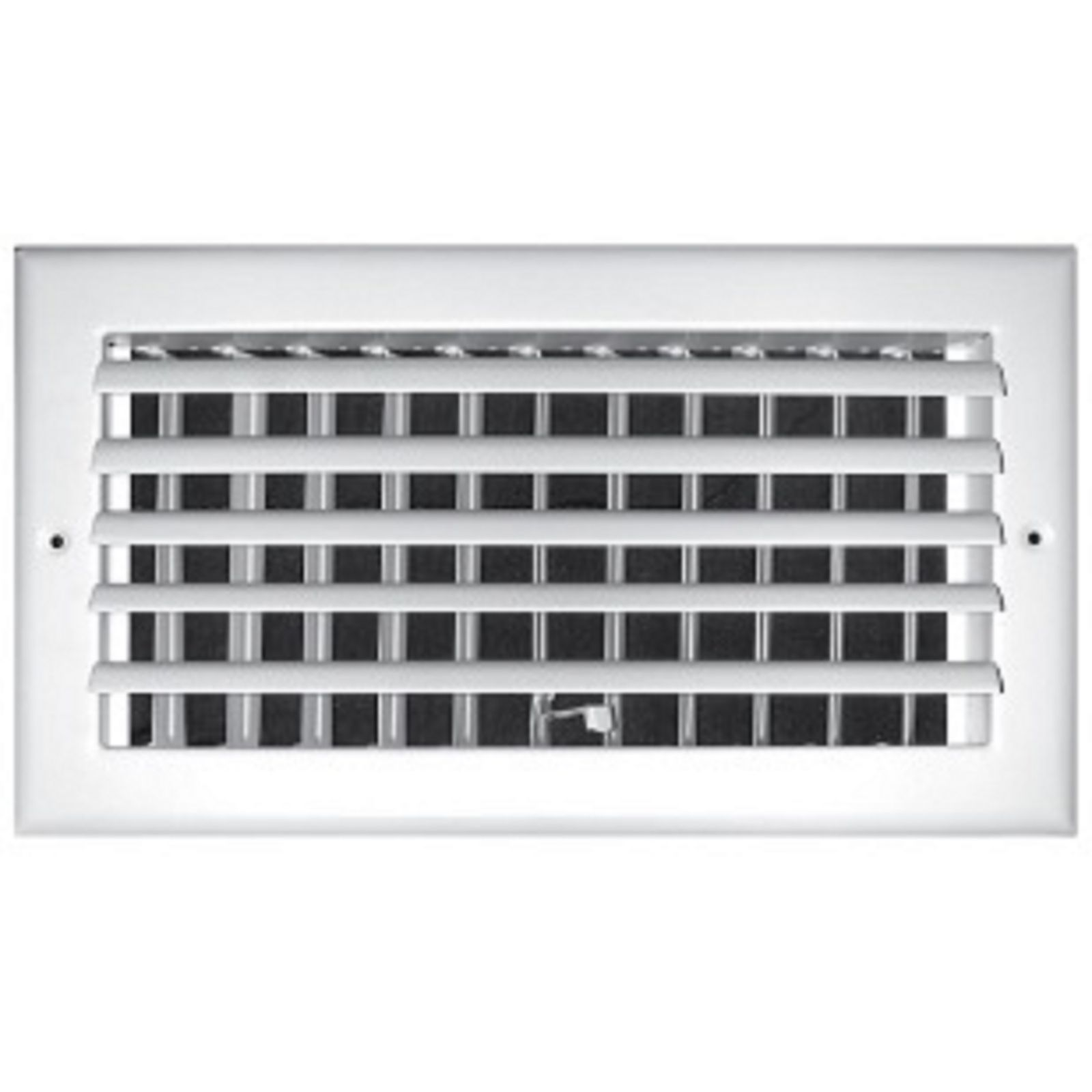 "TRUaire 301M 14X08 - Steel Adjustable Curved Blade Wall/Ceiling Register With Multi Shutter Damper, 1-Way, White, 14"" X 08"""