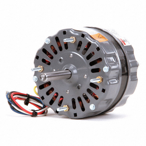 DAYTON 1/8 HP Direct Drive Blower Motor, Permanent Split Capacitor, 1550/1300/1050 Nameplate RPM