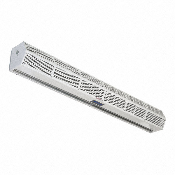 Low Profile BERNER Air Curtain, 6 ft. Max. Door Width, 7 ft. Max. Mount Ht., 54 dBA @ 10 Feet, 3300 fpm