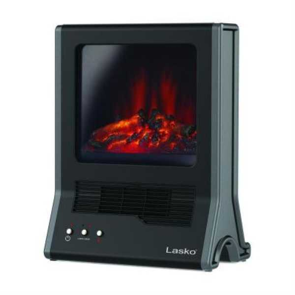 Lasko CA20100 Ceramic Fireplace Heater - Black