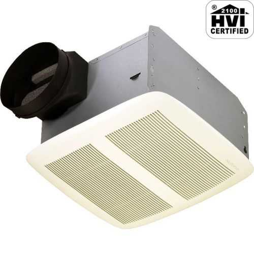 NuTone QTXEN080 80 CFM 0.3 Sone Ceiling Mounted Energy Star Rated HVI Certified Bath Fan from the QT Collection