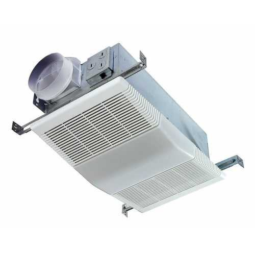 NuTone 668RP 70 CFM 4 Sone Ceiling Mounted HVI Certified Bath Fan with Light