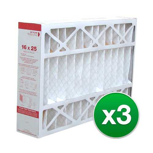 Replacement Pleated Air Filter for For Honeywell F100F2002 HVAC 16x25x4 MERV 11 (3 Pack)