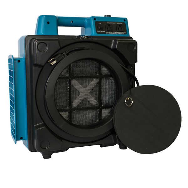 XPOWER X-2480A Commercial 3 Stage Filtration HEPA Purifier System Mini Air Scrubber - Blue - Blue