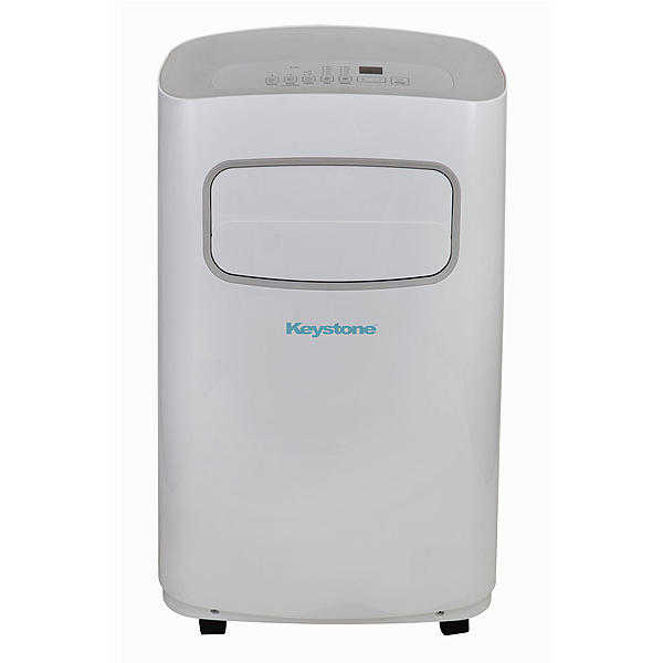 Keystone KSTAP12CG 12,000 BTU 115V Portable Air Conditioner with Remote Control, White/Gray