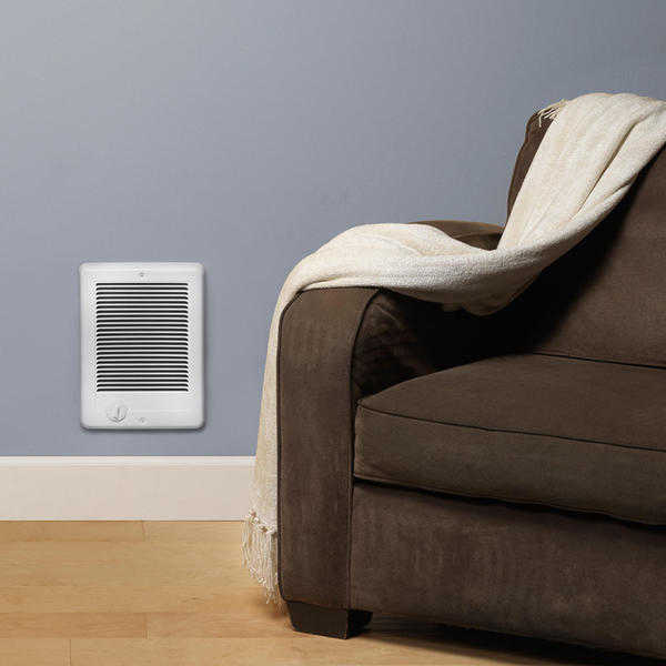 CADET CSC102TW 1000 Watt Wall Fan Heater with Thermostat - White