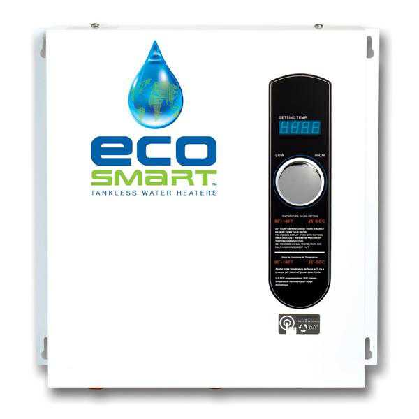 EcoSmart ECO 27 Self Modulating Tankless Water Heater with Patented Self Modulating Technology
