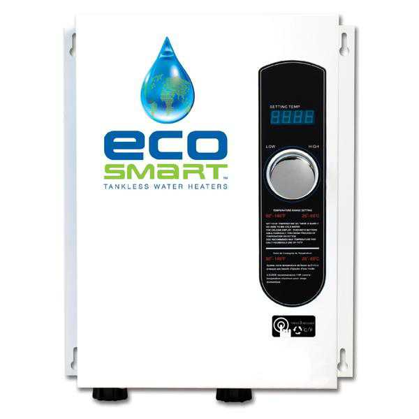 EcoSmart ECO 18 Self Modulating Tankless Water Heater with Patented Self Modulating Technology