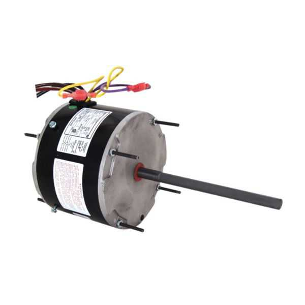 Century ORM5488 - 4-In-1 Condenser Fan Motor, Multi-Horsepower, 208-230V, 825 RPM, 1 Speed, REV, 60┬░ C Max Ambient