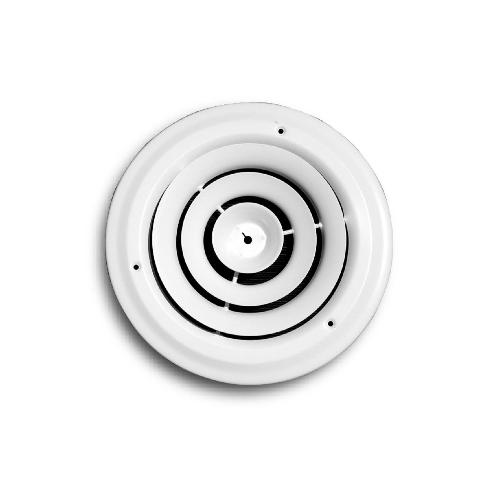 TRUaire 800-08 - Steel Round Ceiling Diffuser, White, 8""